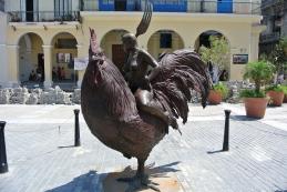 Rooster statue in Plaza Vieja, Havana, Cuba