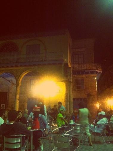 Havana's old square at night