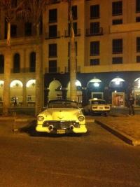 White vintage car, Havana