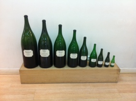 The range of bottle sizes
