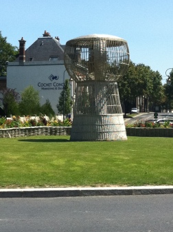 Giant cork sculpture, Epernay, France