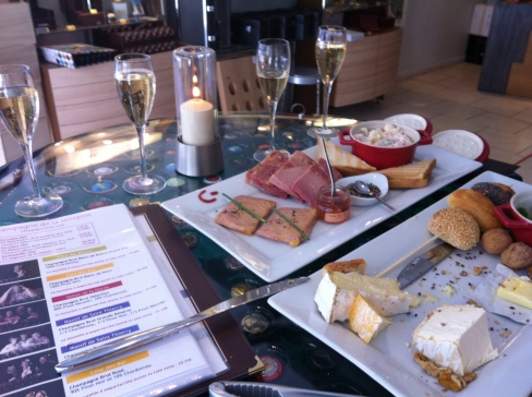 Cheese, charcuturie and champagne tasting, Epernay