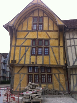 The half-timbered, 16th century houses of Troyes.