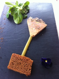 Popping foie gras starter, Royal Champagne hotel, Champillon-Epernay