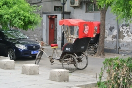 Tuk tuk in the Hutong district