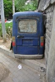 Tiny small blue van, Beijing