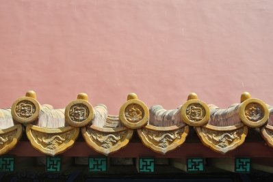 Intricate detail on the roof of the Forbidden City