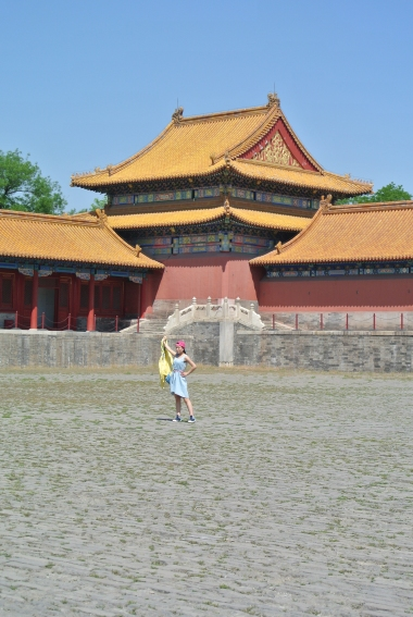 Girl in the blue dress, Forbidden City ,Beijing
