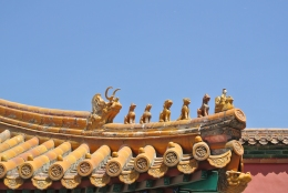 Yellow dragon roof, Forbidden City, Beijing