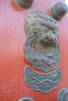Forbidden City dragon door knocker, Beijing
