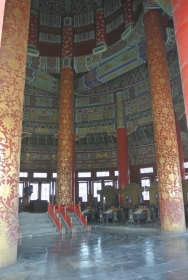 Ornate painting inside the Temple of Heaven, Beijing