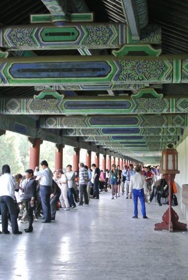 Locals playing games in Tiantan Park, Beijing