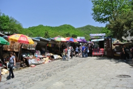 Souvenir market at the foot of the Great Wall of China, Beijing