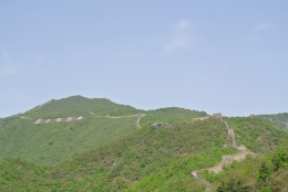 The winding Great Wall of China