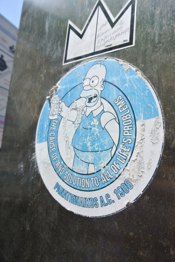 Homer Simpsons sticker, Great Wall of China