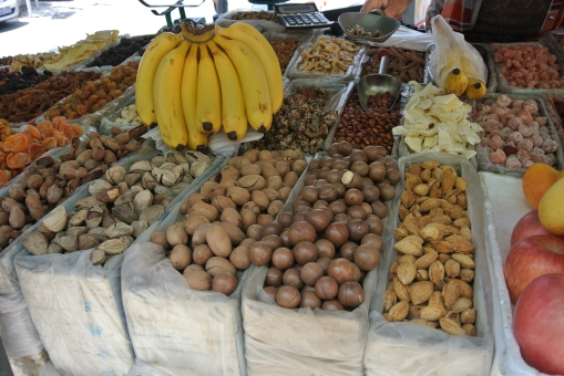 Nuts and fruit on sale, Great Wall of China