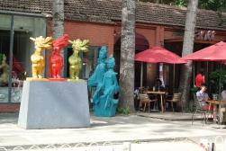 Colourful art in Beijing's art district, 798