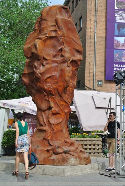 Sculpture on display in 798, Beijing