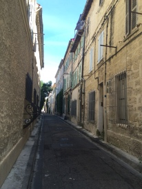 Narrow streets in Avignon old town