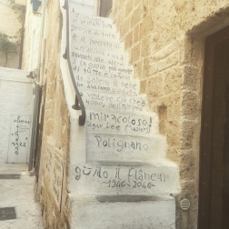 Poetry steps, old town, Polignano a Mare