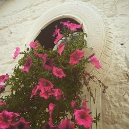 Michelin tyre planter, Polignano a Mare