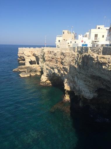 Polignano a Mare from the sea