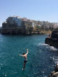 high jump, Polignano a Mare