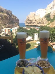 Beers at Bar Fly, Polignano a Mare