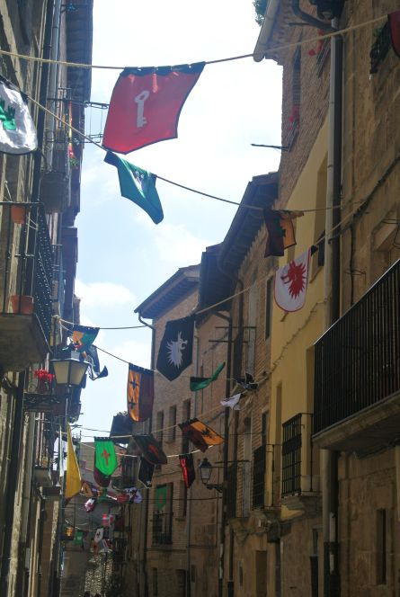 Flags in Laguardia, Rioja