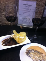 Ox cheek tapas on Calle Laurel, Logrono