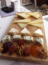 Cheese board at Hotel Viura, Rioja