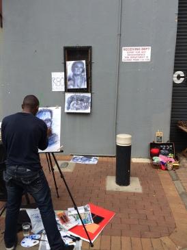 Artist in Joburg