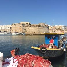 Gallipoli harbour, Puglia