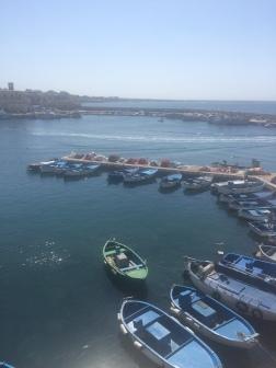 Fishing boats. Gallipoli harbour, Puglia, Italy