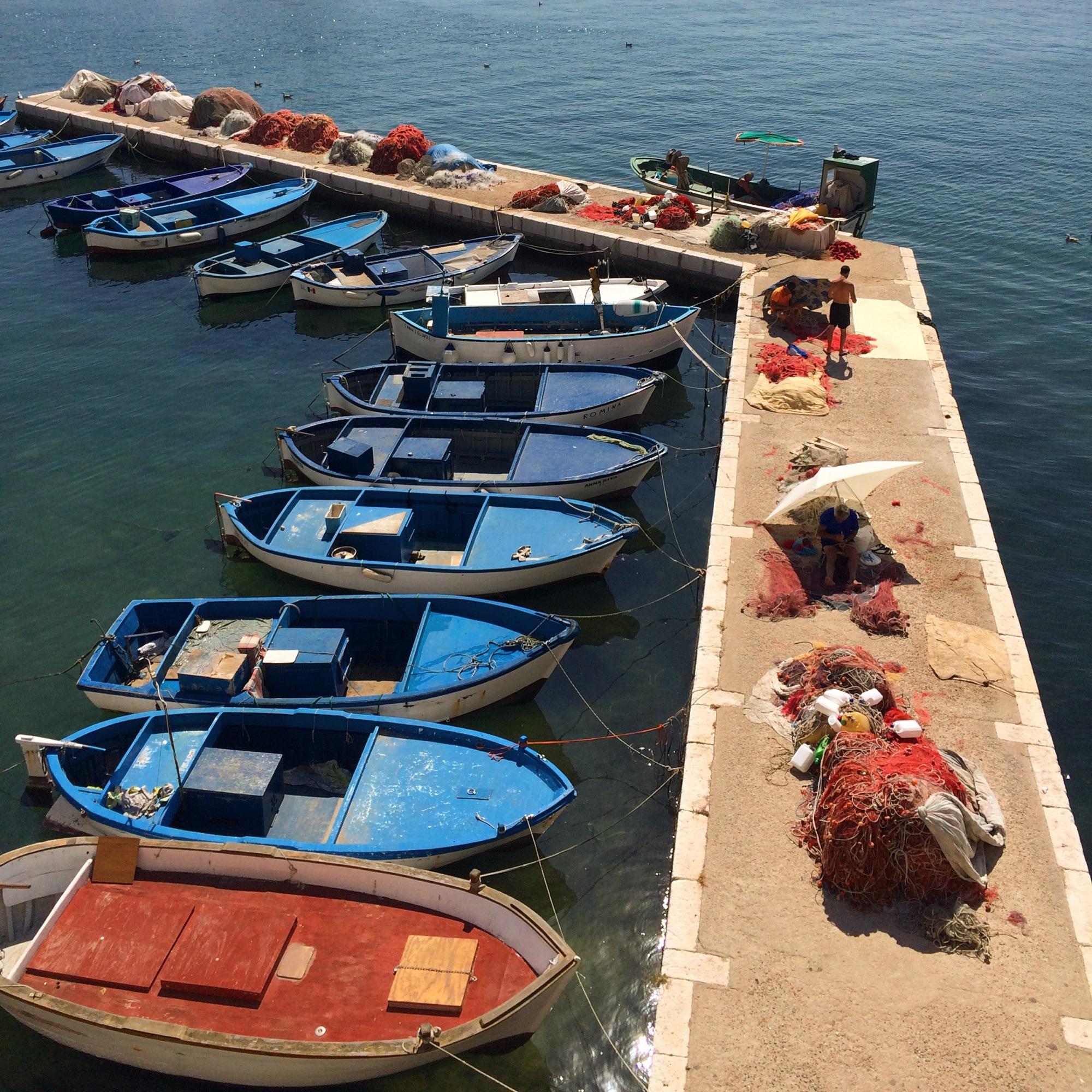 Gallipoli harbour, Puglia, Italy